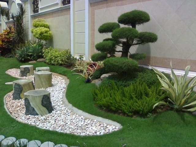 Beautiful garden decor