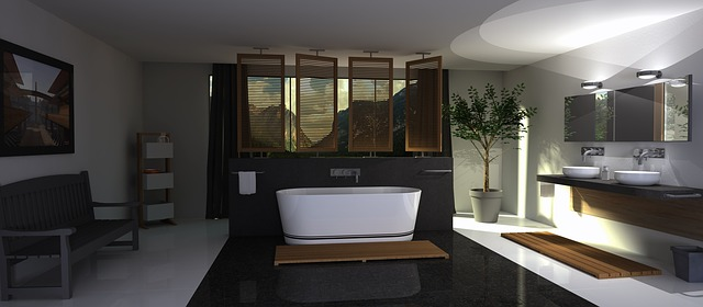 Black & Ash White Bathroom Design Ideas