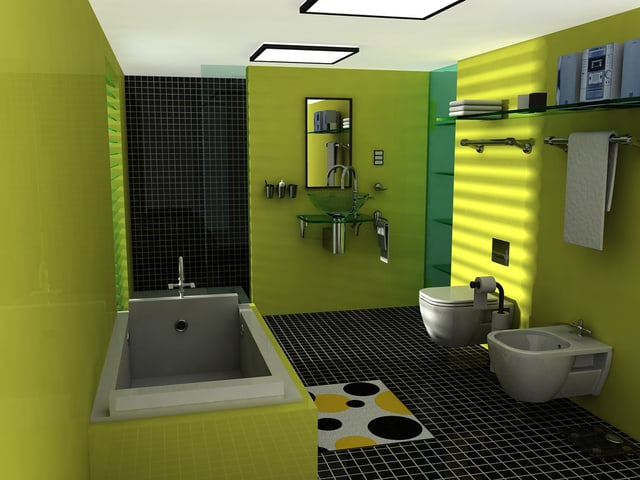 Light Green Bathroom lxuxry Design