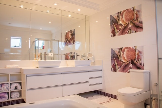 Light Pink Top Bathroom Designs