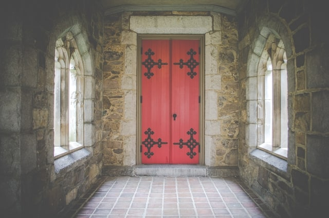 Red & Black Door Design