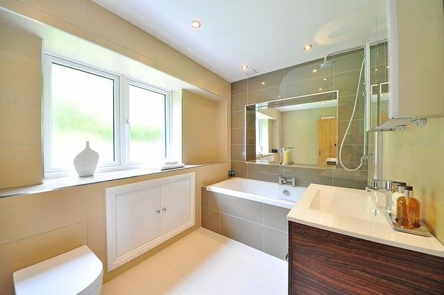 Skin & brown Bathroom Design