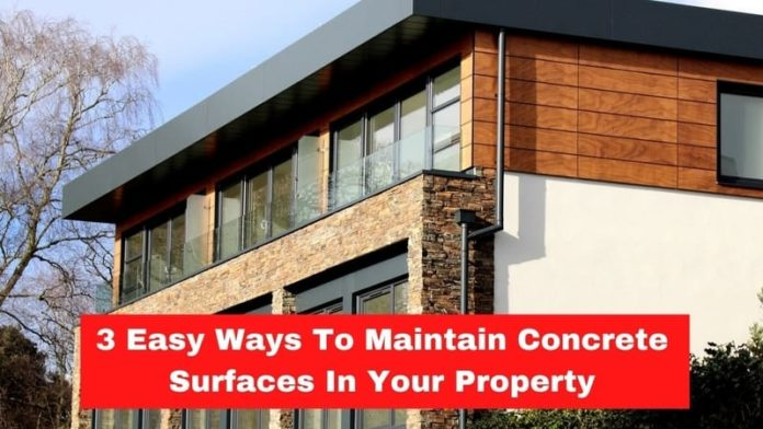 Maintain Concrete Surfaces In Your Property