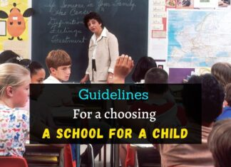 Guidelines for a choosing a school for a child
