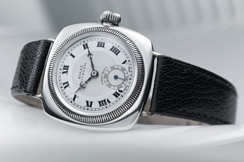 Cushion-shaped Rolex Oyster from c. 1926