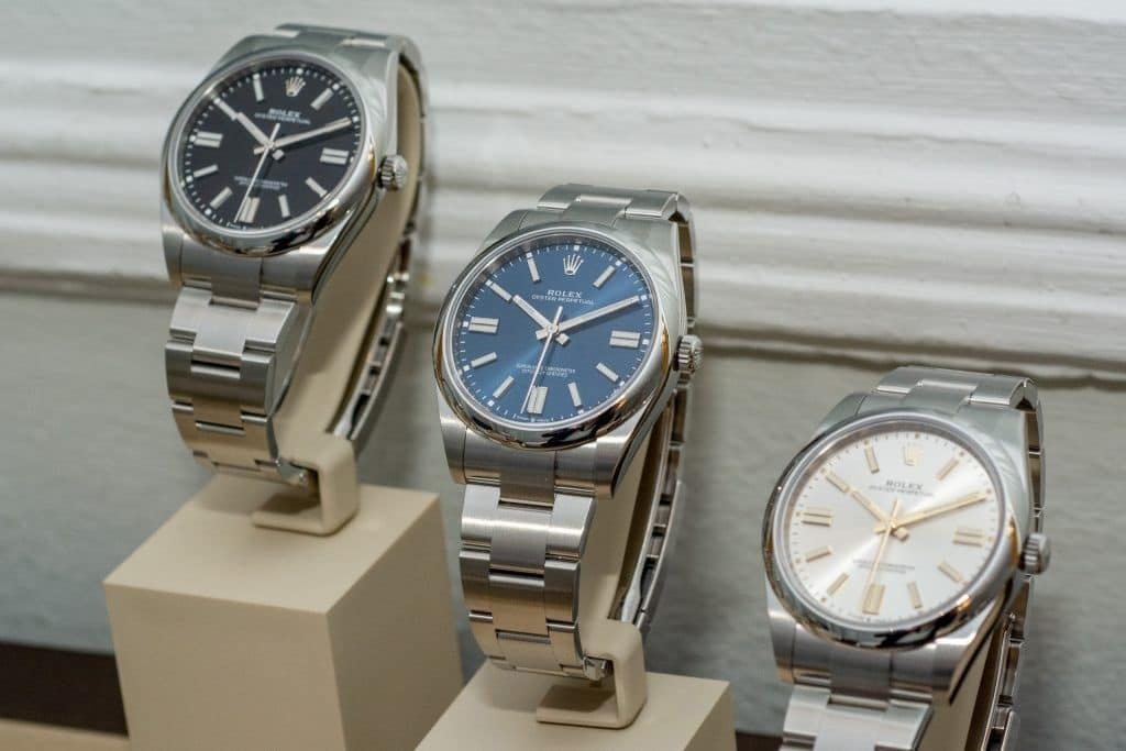 The three radial cut sheets of the Rolex Oyster Perpetual 41