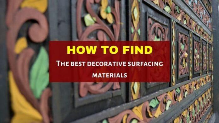 decorative surfacing materials