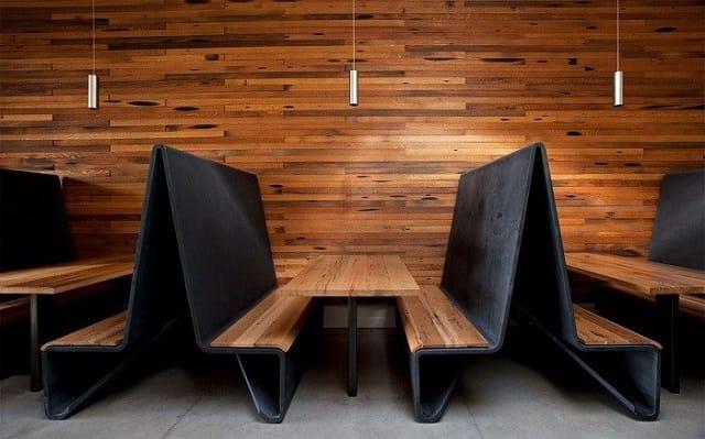 gotable wood restaurant booths